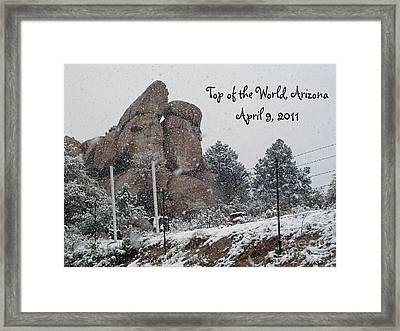 Top Of The World Arizona Framed Print by Methune Hively