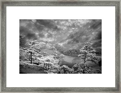 Top Of Tip Toe Mountain, Vinalhaven, Maine Framed Print