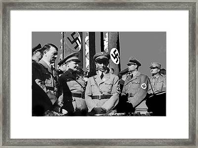 Top Ranking Nazis Hitler Goering Goebbels And Hess Circa 1939 Color Added 2016 Framed Print