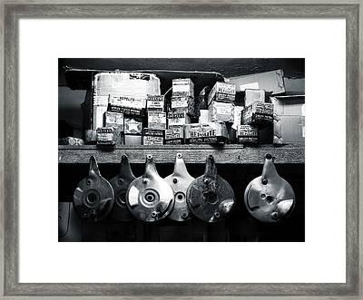 Top Shelf In The Workshop Framed Print