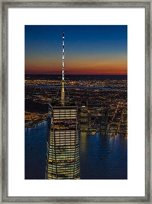 Top The World Trade Center Nyc Framed Print by Susan Candelario