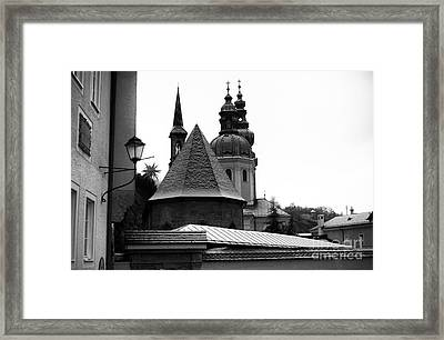 Top View In Salzburg Framed Print by John Rizzuto