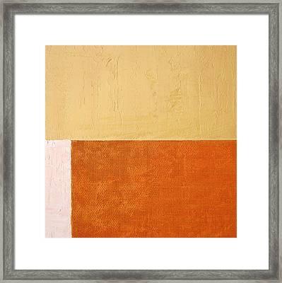 Topaz Pink Orange Framed Print
