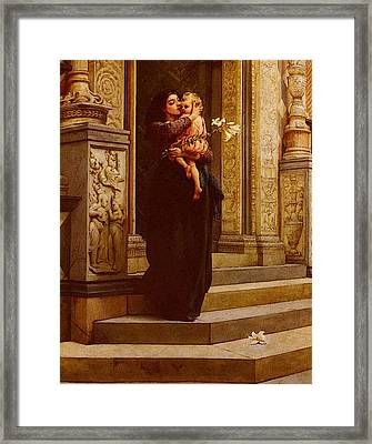 Topham Frank William Warwick The Lily Framed Print