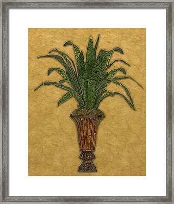 Topiary 1 Framed Print by Carol Peck