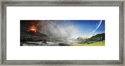Topic Of Duality Winter-summer Framed Print by Tobias Roetsch