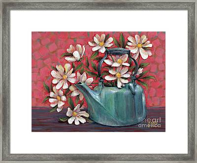 Framed Print featuring the painting Topless With Daisies by Jane Bucci