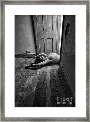 Topless Woman In Doorway Framed Print