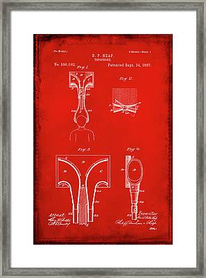 Topophone Patent Drawing 1a Framed Print by Brian Reaves