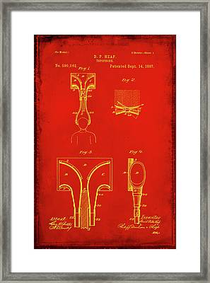 Topophone Patent Drawing 1b Framed Print by Brian Reaves
