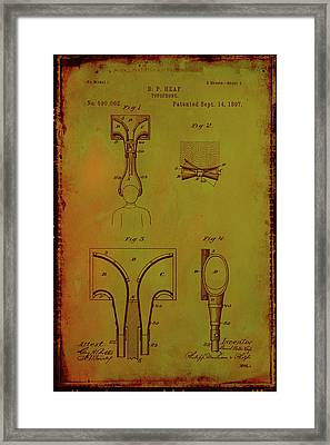 Topophone Patent Drawing 1c Framed Print by Brian Reaves