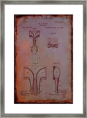Topophone Patent Drawing 1e Framed Print by Brian Reaves