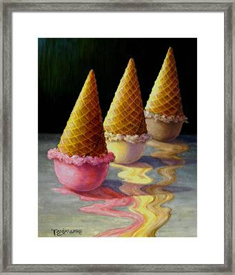 Toppled Triple Treat Framed Print by Tanja Ware
