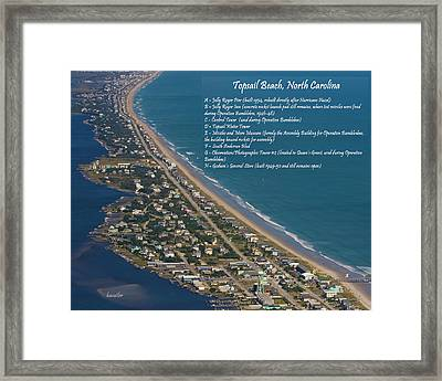 Topsail Beach Framed Print by Betsy Knapp