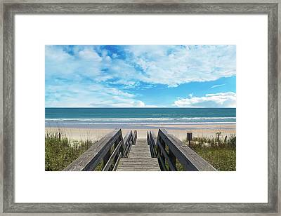 Topsail Begin Your Tradition Now  Framed Print by Betsy Knapp