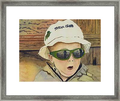 Topsail Hat Framed Print by Steph Bucci
