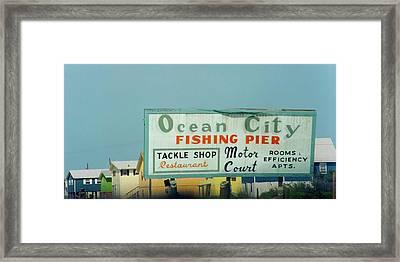 Topsail Island 1996 Ocean City Framed Print