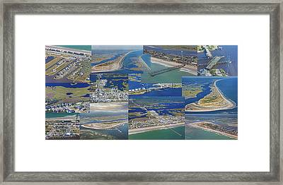 Topsail Island History From Above  Framed Print