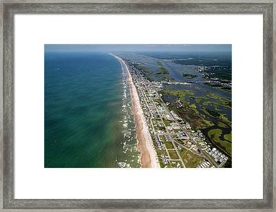 Topsail Island Middle Heart Framed Print by Betsy Knapp