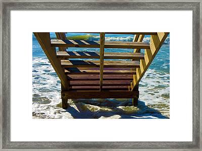 Topsail Island Ocean Steps Framed Print