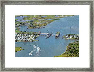Topsail Island Top Of The Hour Framed Print by Betsy Knapp