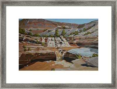 Toquerville Falls Framed Print
