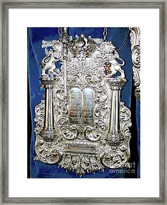 Torah Breast Plate 2 Framed Print