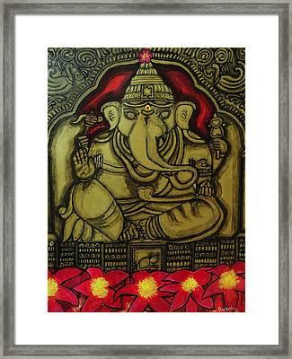 Torana Ganapati Framed Print