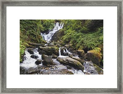 Torc Waterfall In Killarney National Framed Print by Ken Welsh