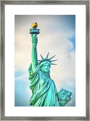 Framed Print featuring the photograph Torch Of Liberty by Nick Zelinsky