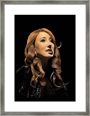 Tori Amos Framed Print by Vincent Martin