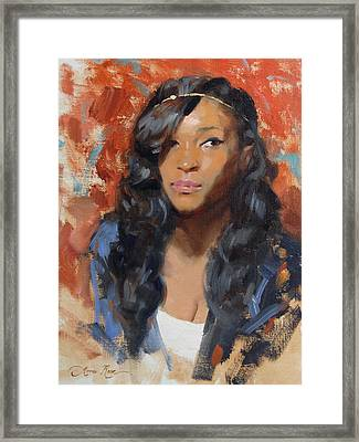 Tori Portrait Demo Framed Print by Anna Rose Bain