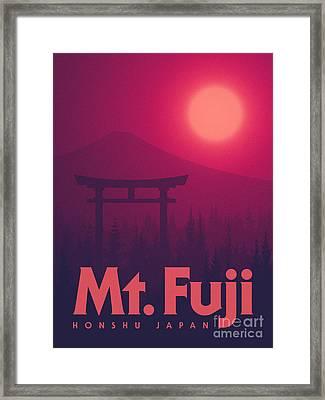 Torii Gate Japan - Magenta Framed Print