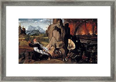 Torment Of St Anthony Framed Print by MotionAge Designs