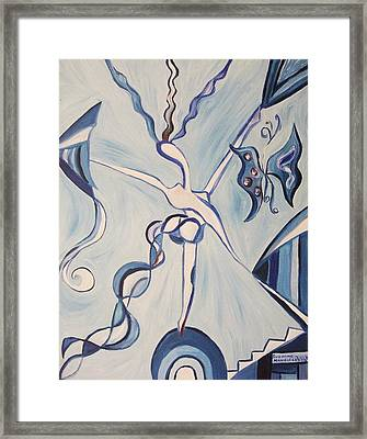 Torn Apart Framed Print by Suzanne  Marie Leclair