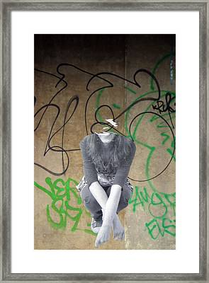 Torn Framed Print by Jez C Self