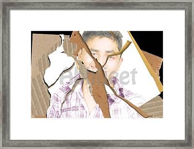 Torn Mix Framed Print by Abhijeet Sarswat