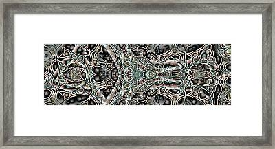 Framed Print featuring the digital art Torn Patterns by Ron Bissett