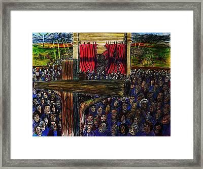 Torn Reaction Number 2 Framed Print by Richard  Hubal
