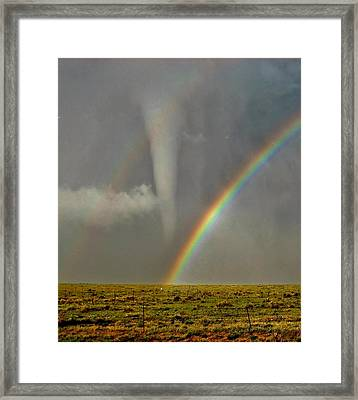 Tornado And The Rainbow II  Framed Print by Ed Sweeney