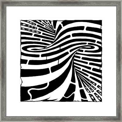 Tornado Maze Framed Print by Yonatan Frimer Maze Artist