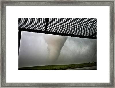 Tornado Near Yorkton Sk. Framed Print