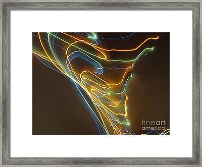 Framed Print featuring the photograph Tornado Of Lights. Dancing Lights Series by Ausra Huntington nee Paulauskaite