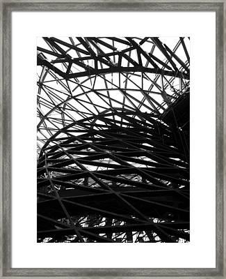 Tornado Skeleton - 3 Of 5 Framed Print by Alan Todd