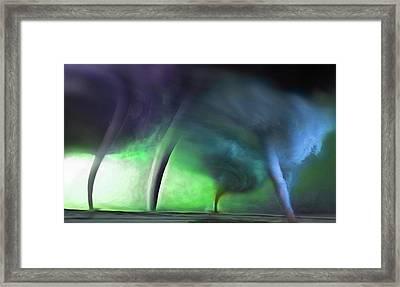 Tornado Storm 1 - Collage Framed Print by Steve Ohlsen