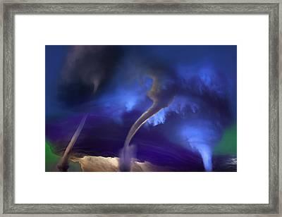 Tornado Storm 2 - Collage Framed Print by Steve Ohlsen