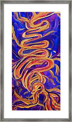 Framed Print featuring the painting Tornado Swirls by Claire Bull