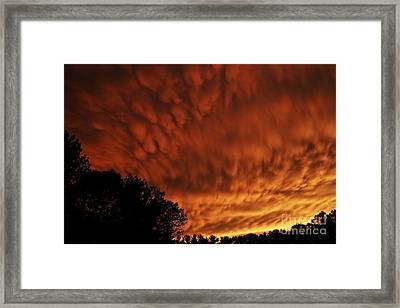 Tornado Warning Framed Print