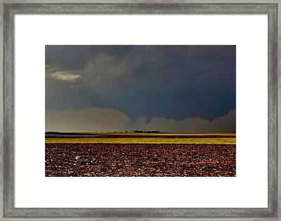 Framed Print featuring the photograph Tornadoes Across The Fields by Ed Sweeney