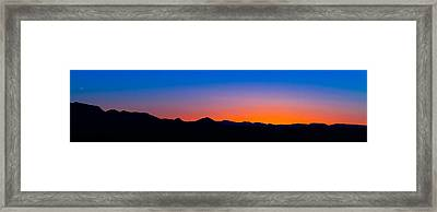 Tornillo Sunset Framed Print